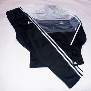 Adidas Boys Youth 2pc Warmer Track Suit Set